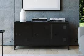 homexperts sideboard college kommode in spind optik breite 120 cm tv board metall schwarz