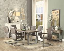 Acme 73110 73112x6 7pc Lazarus Gunmetal With Pine Wood Table Top Dining