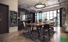 Entrancing Industrial Style Dining Room Design The Essential Guide And Interior Decorating Decoration Table Ideas For