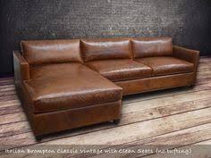 Restoration Hardware Petite Lancaster Sofa by The Petite Lancaster Leather Right Arm Sofa Chaise Sectional
