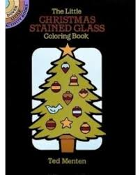 The Little Christmas Stained Glass Coloring Book Dover Activity Books Black
