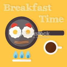 Breakfast Time Fried Eggs Making Process Preparing Food Flat Design Vector Art