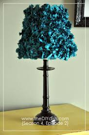 Fabric Flower Lamp Shade From The DIY Dish