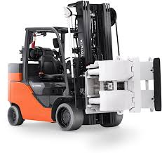 Forklift For Paper Rolls With Automatic Clamp Leveling | Toyota ...