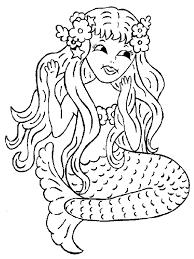 Sweet Looking Mermaid Coloring Pages Printable Free For Kids
