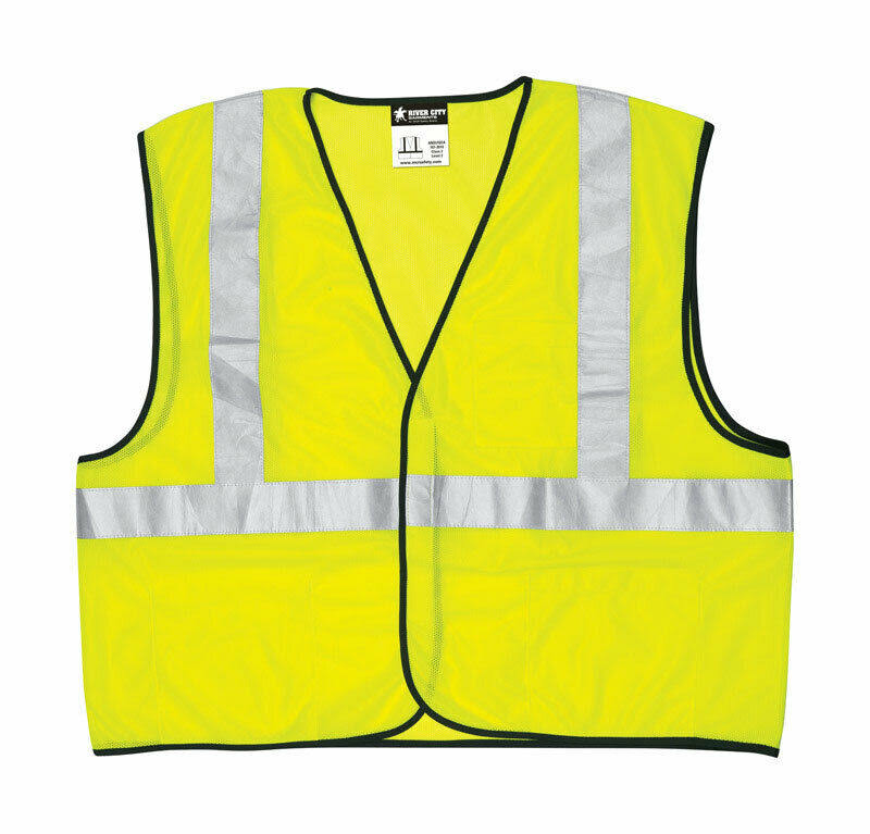 Safety Works Class2 Mesh Safety Vest - Lime Green