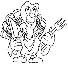 Thanksgiving Turkey Coloring Page For Kids