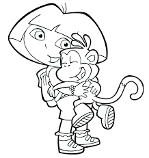 Dora And Boots Coloring Pages To Print