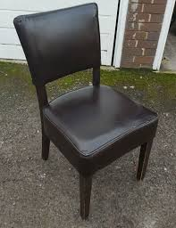 26x Brown Leather Dining Chairs - East Sussex