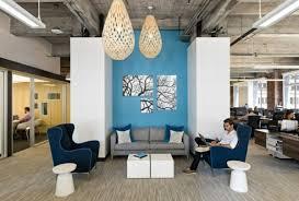 modern office furniture design lightning relaxation corner blue