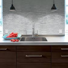 Peel And Stick Faux Glass Tile Backsplash by Smart Tiles The Home Depot