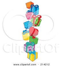Royalty Free RF Clipart Illustration of a Pile Birthday Presents 1 by visekart