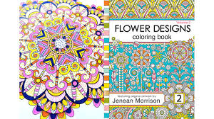 Timelapse Coloring With Dots And Stripes In Jenean Morrisons Flower Designs Book Volume 2