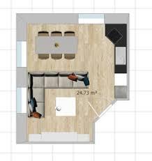 grundriss aufteilung entwurf wohn esszimmer