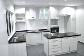 Design Kitchen Cabinet White Colour L Shaped With Island Cabinets Stainless
