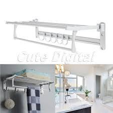 Bathroom Towel Bar With Shelf by Aliexpress Com Buy Wholesale Aluminum Wall Mounted Bathroom