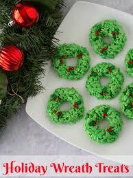 Rice Krispie Christmas Tree Ornaments by Holiday Wreath Rice Krispies Treats Upstate Ramblings