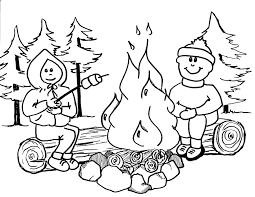 Printable Camping Coloring Pages New In Plans Free Online