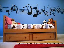Cool Music Murals In Eclectic Bedroom
