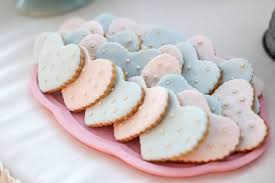 Heart Shaped Cookies From A Rustic Shabby Chic Wedding Via Karas Party Ideas