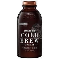22 Starbucks Cold Brew Coffee Black Unsweetened 11 Oz Glas