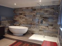 reclaimed wood s bathroom transformation walls and
