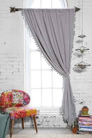 blackout pompom curtain urban outfitters urban and ivory