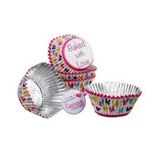 Baked With Love Foil Lined Baking Cases Butterfly Pack Of 25