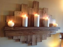 Rustic Wall Decor With Candles