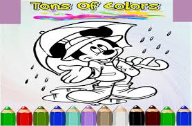 How To Color Mickey Mouse Game Screenshot