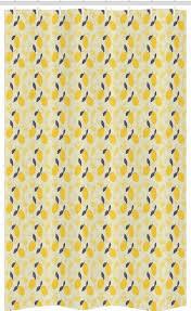 abakuhaus duschvorhang badezimmer deko set aus stoff mit haken breite 120 cm höhe 180 cm frucht kunst zitronen und blüten kaufen otto