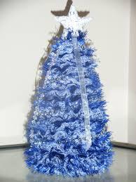 Ferrero Rocher Christmas Tree Diy by Knitted Xmas Tree With Blue Eyelet Lace Christmas Tree