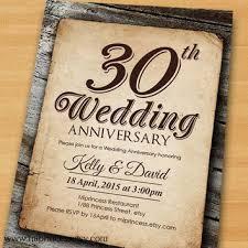 Anniversary Invitation Wedding 30th 40th