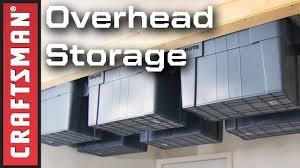 Garage Organization Ideas DIY Overhead Garage Storage