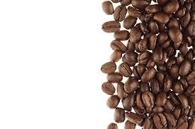 Heap Roasted Coffee Beans As Decorative Border With Copy Space On