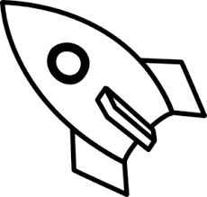 Black & White Rocket Clip Art at Clker vector clip art