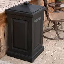 Suncast Db5000 50 Gallon Deck Box by Suncast Resin Trash Receptacle Mocha Brown Hayneedle
