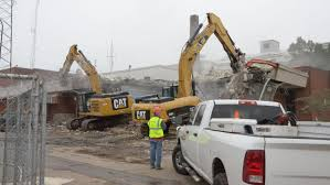 100 Demolition Truck Of The Former Battle Creek Police Department Headquarters