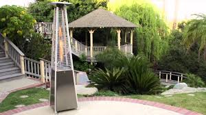 Fire Sense Deluxe Patio Heater Stainless Steel by Pyramid Flame Patio Heater Youtube