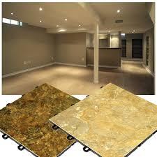 Slate Look Flooring Interlocking Basement Floor Tiles Made In USA