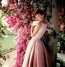 Retro Audrey Hepburn US Glamour 1955 Fashion Photography Of 1950s By Norman Parkinson