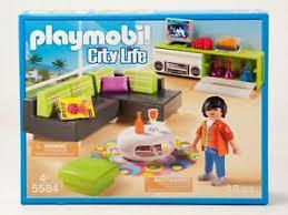 details zu playmobil wohnzimmer 5584 für wohnhaus einrichtung möbel sofa schrank