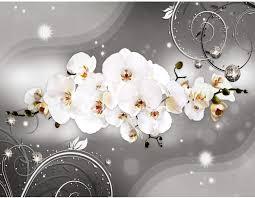 runa fototapete blumen orchidee modern vlies wohnzimmer schlafzimmer flur made in germany schwarz weiss 9234010b