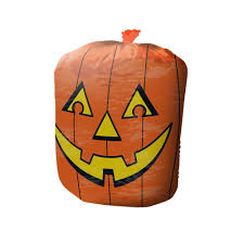 Glow In The Dark Plastic Pumpkins by 60 Gal Glowing Pumpkin Lawn And Leaf Bag 1 Unit Pumpkinbag