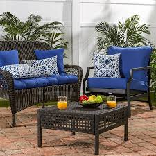 Amazon Prime Patio Chair Cushions by Amazon Com Greendale Home Fashions Deep Seat Cushion Set Marine