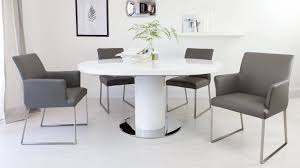 100 White Gloss Extending Dining Table And Chairs Yidahocom