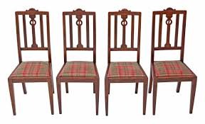 Antique Quality Set Of 4 Art Nouveau Oak Dining Chairs - Prior ... Set Of 4 Quality Art Nouveau Golden Oak High Slat Back Ding Chairs 554 Art Nouveau Ding Table And Chairs 3d Model Vintage 6 Antique French 1900 Walnut Nailhead Set 8 Edwardian Satinwood Beech Four Art Nouveau Louis Majorelle Ding Chairs Jan 16 2019 Room And Sale Mid Century Hand Made Game By Terry Bostwick Casa Padrino Luxury Dark Brown Cream 51 X Round In The Unique Timeless Tufted Armchair Chair Blue Velvet Navy 1900s Vinterior