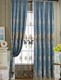 lactraum gardine wohnzimmer mädchen bestickt blau blumen