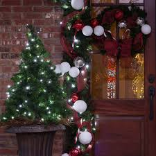 Pre Lit Porch Christmas Trees by Christmas Porch Decorations