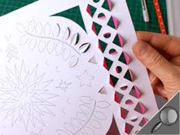 Creating a position using paper cutting